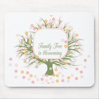 Blossoming Family Tree Mouse Pad
