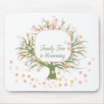 Blossoming Family Tree Mouse Pads