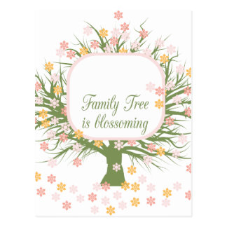 Blossoming Family Tree Postcard
