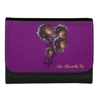 Blossoming Flowers Two Tone Medium Wallet