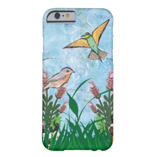 Blossoming Flowers with Birds Barely There iPhone 6 Case