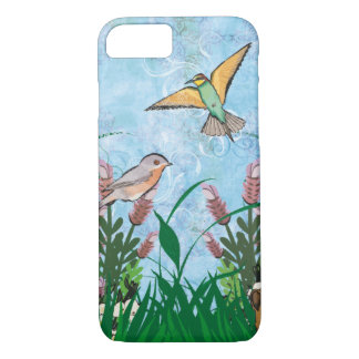 Blossoming Flowers with Birds iPhone 8/7 Case
