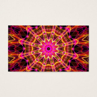 Blossoming Friendship Kaleidoscope Business Card