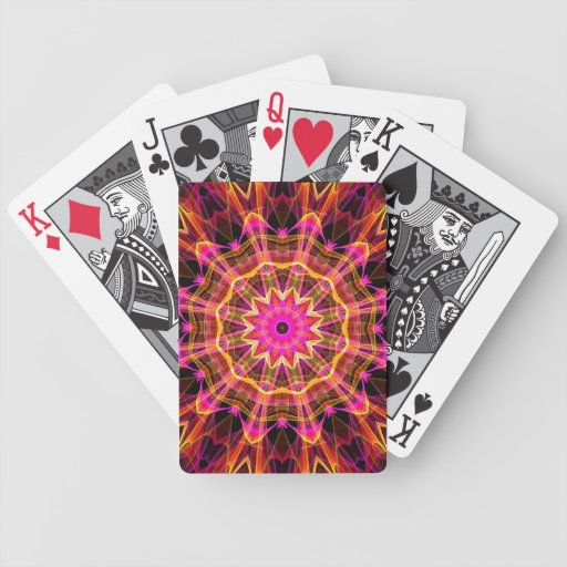 Blossoming Friendship Kaleidoscope Bicycle Poker Deck