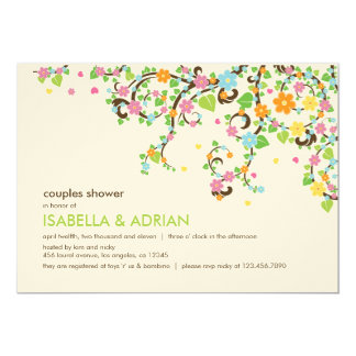 Blossoming Glory Outdoor Baby Shower Invitation