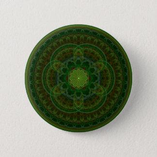 Blossoming Green Kaleidoscope Pinback Button