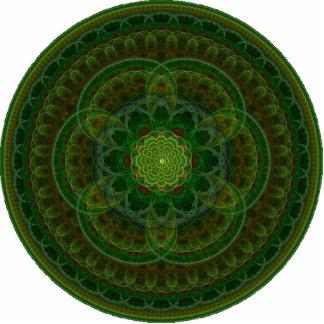 Blossoming Green Kaleidoscope Statuette