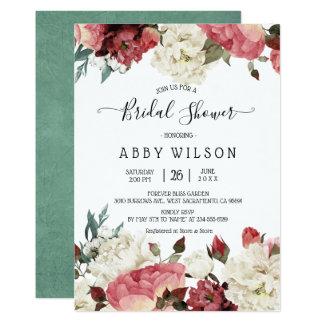 Blossoming Joy Spring Floral Bridal Shower Invites