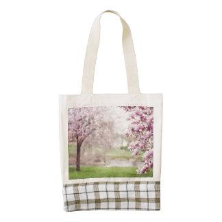 Blossoming Magnolia Trees Zazzle HEART Tote Bag