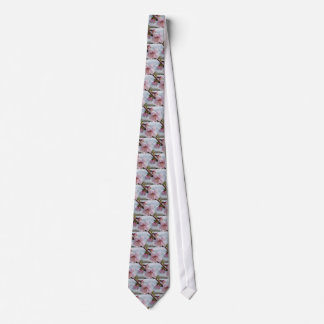 Blossoming peach tree against the cloudy sky tie