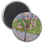 Blossoming Peach Tree By Vincent Van Gogh 2 Inch Round Magnet