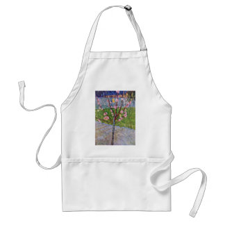 Blossoming Peach Tree By Vincent Van Gogh Adult Apron