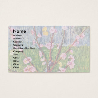 Blossoming Peach Tree By Vincent Van Gogh Business Card