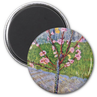 Blossoming Peach Tree By Vincent Van Gogh Magnets