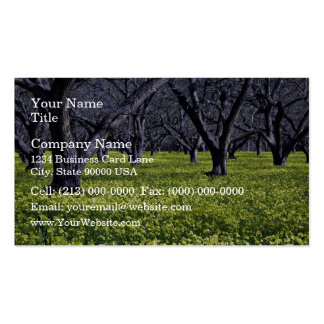 Blossoming plants business card