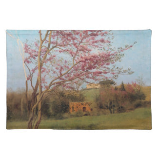 Blossoming red almond Tree Placemat