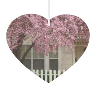 Blossoming Tree in the Suburbs Car Air Freshener
