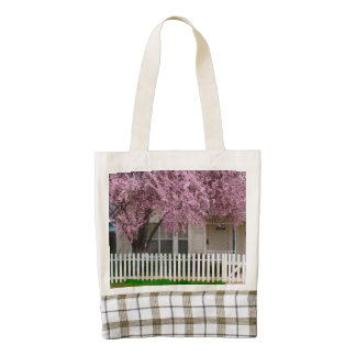 Blossoming Tree in the Suburbs Zazzle HEART Tote Bag