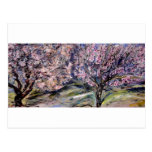 Blossoming trees postcard