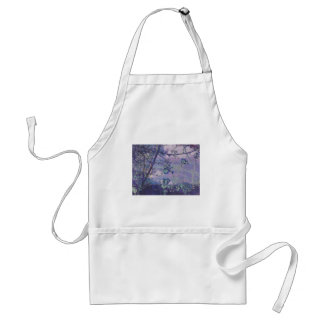 Blossoms Abstract Violet Adult Apron