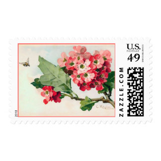 Blossoms and a Bee Postage
