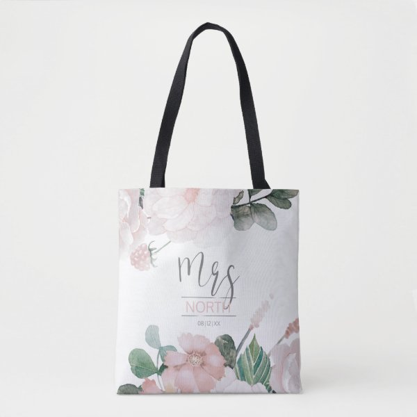 Blossoms and Berries Mrs Bride Blush ID476 Tote Bag