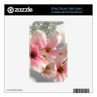 Blossoms and Crystal Decal For iPod Touch 4G