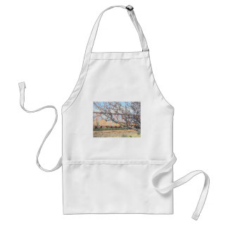 Blossoms and Train Car Adult Apron