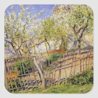 Blossoms and Wallflowers by Guy Rose Square Sticker