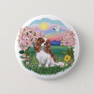 Blossoms - Blenheim Cavalier Pinback Button
