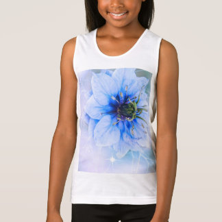 blossoms blue sparkle cute smile girly girls girl tank top