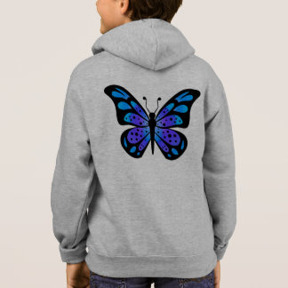 Blossoms Butterfly Garden Park Shower Party Pink Hoodie