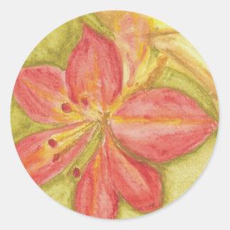 Blossoms Classic Round Sticker