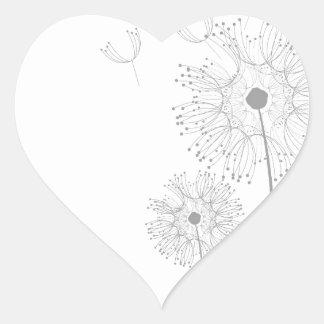 Blossoms Dandelion Flowers Peace Love Destiny Heart Sticker
