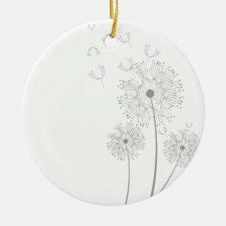 Blossoms Dandelion Flowers Peace Love Destiny Ornaments