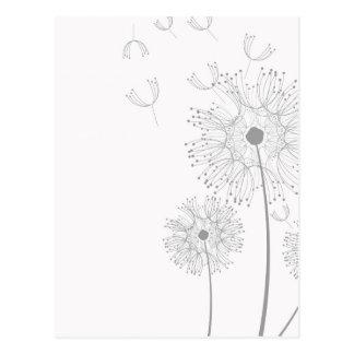 Blossoms Dandelion Flowers Peace Love Destiny Postcard