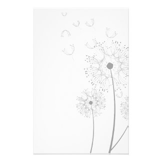 Blossoms Dandelion Flowers Peace Love Destiny Custom Stationery