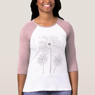 Blossoms Dandelion Flowers Peace Love Destiny T-Shirt