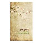 Blossoms♥♥ de la cereza del rosa del vintage de Pi Tarjetas De Negocios