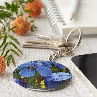 blossoms flora flowers petals garden vines basic round button keychain