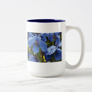 blossoms flora flowers petals garden vines Two-Tone coffee mug