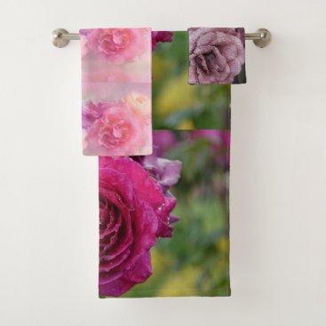 Bride Themed Blossoms Floral Shower Bath Home Destiny'S Destiny Bath Towel Set