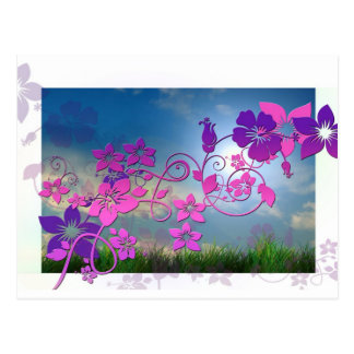 Blossoms Flowers Spring Summer Peace Love Destiny Postcard