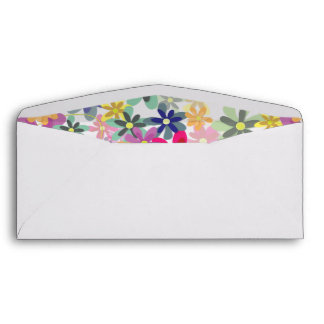 Blossoms in Bloom (Seamless Pattern) Envelope