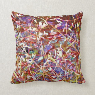 Blossoms in the Undergrowth Pillow
