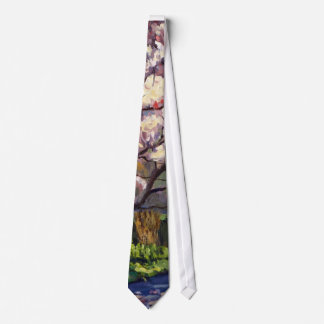 Blossoms of White Impressionistic Oil Painting Tie