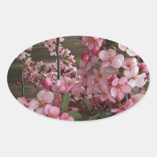 Blossoms Oval Sticker