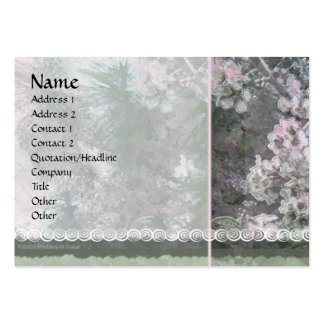 Blossoms & Pines 1 Profile Card Business Card Template