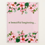"Blossoms Pink &amp; Green Planner<br><div class=""desc"">Let Love Blossom in your hearts and New Life Begin. Do see other products in this design in wedding suite collection. Don&#39;t miss out on home and gift products too. You may edit the information and base color using &quot;CUSTOMIZE IT&quot; button.</div>"