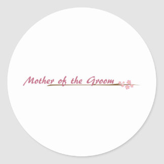 Blossoms So Sweet Mother of the Groom Classic Round Sticker